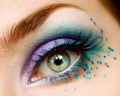 purple and turquoise