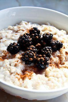 Porridge Lady's Recipe for Organic September - Blackberry and Apple Porridge