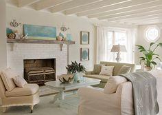 Living Room. Coastal Living Room Decor. #LivingRoom #CoastalDecor