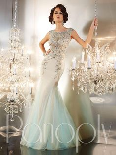 Panoply Vintage Beaded Pageant Gown style 14647