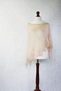 READY TO SHIP Wedding shawl knit shawl mohair by KnitwearFactory, $125.00