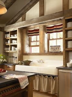 rustic style country kitchen, what a great sink!