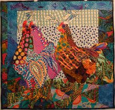 chicken quilt by Ruth McDowell