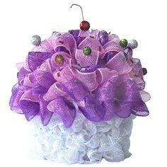 Deco Poly Mesh Cupcake