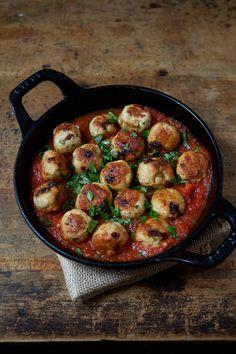 Chicken and Sun-Dried-Tomato Meatballs Recipe