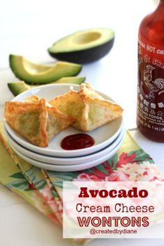 Avocado Cream Cheese Wontons