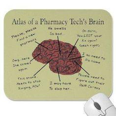 Pharmacy tech's brain