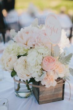 Beautiful table number bouquets