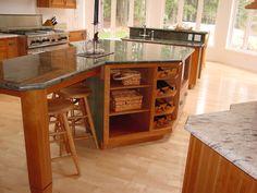 neat kitchen, kitchen islands