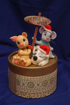 Caja Navideña by Porcelana Fria Paso a Paso, via Flickr