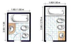 Arquitectura on pinterest small kitchens cottage - Distribucion bano pequeno ...