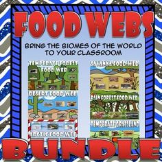 Bundle up and save with this Food Chain & Food Web set covering the biomes of the world. You can click on each of the links below to see mor...