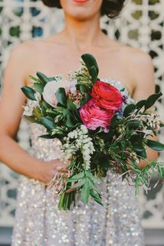 vintage styled bridal bouquet