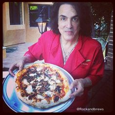 Paul Stanley at the Rock & Brews test kitchen