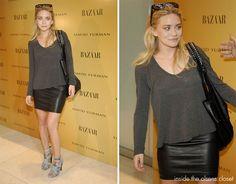 Olsen - leather skirt
