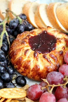 Easy baked brie.