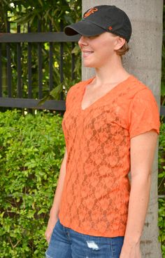 Lace top from the The Union St. Tee pattern