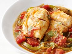 Portuguese-Style Fish Stew from #FNMag #myplate #protein #grains #veggies