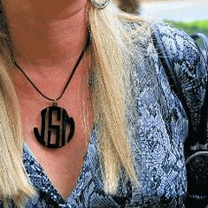 Round Flourish Bloom Necklace - $29.99! round flourish, fashion, flourish bloom, bloom necklac, acryl monogram, necklaces, monogram necklac