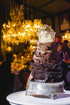 Awesome chocolate groom's cake. Style Me Pretty | Gallery