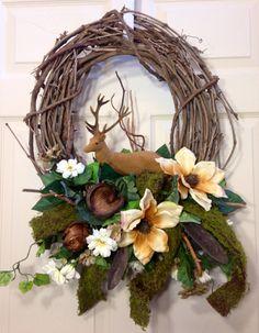 Woodsy Deer Wreath