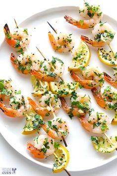 Shrimp Scampi Skewers {Gimme Some Oven}