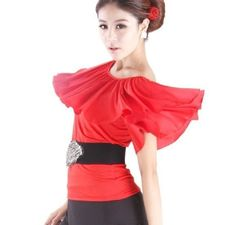 New Womens Latin Ballroom Dance Top square dance blouse 3 colors available #T042