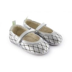 Adorable metallic mary janes for babies