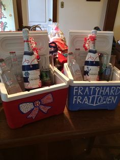 Frat coolers for my littles