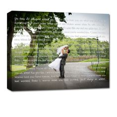 wedding photo printed on canvas for your walls.