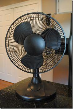 spray paint a fan.