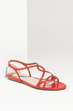 Prada Patent Leather Sandal | Nordstrom - StyleSays