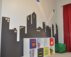 Super Hero Themed Room   Superhero themed room inspiration for your kids. From Spiderman ...