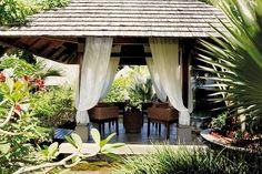 Shanti Maurice - A Nira Resort - Relaxation pavilion at Nira Spa at Shanti Maurice #spa #wellness