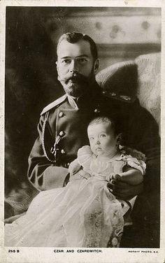The Russian Czar with his son Alexei