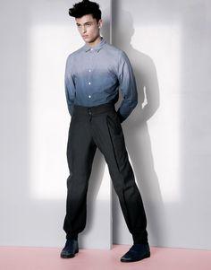 tailored trousers dip dye shirt