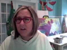 """NEW! - Donna Downey Gelli Workshop!   The Art of Gelli Prints   30 Techniques  4 projects, lots of tips and tricks  AND she calls us the """"new, hip, trendiest thing"""" ;-D  http://youtu.be/IhwKcHAHXXk"""