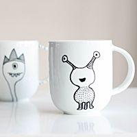 mug decorating on pinterest mug designs sharpie mug. Black Bedroom Furniture Sets. Home Design Ideas