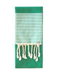 Bathroom Update: Emerald Hand Towel // green Turkish towel from Nine Space