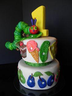 The Very Hungry Caterpillar Cake-- Very cute idea
