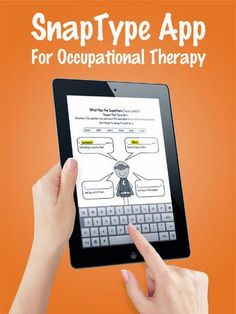 Assistive Technology Blog: SnapType For Occupational Therapy-For Students Who Have Difficulty With Handwriting. Pinned by SOS Inc. Resources. Follow all our boards at pinterest.com/sostherapy/ for therapy resources.