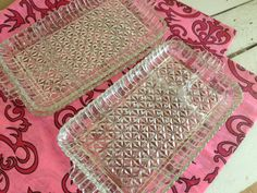 Vintage glass snack plates