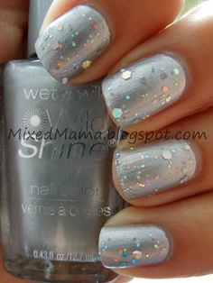 Wet n' Wild's Metallica with Tip Top Nail Chic's Rocky Road.