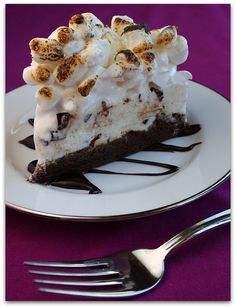 Brownie Campfire Cake with Toasted Marshmallows & Hot Fudge