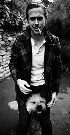 Ryan Gosling and dog