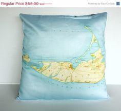 ON SALE Cushion cover pillow map cushion by mybeardedpigeon, $50.00