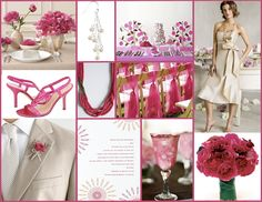 Colors That Compliment Each Other wedding | Inspire Me! (Fuchsia and Tan) | Weddingistas