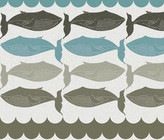 quilt, hollizolling, spoonflower, wallpapers, grey, aqua, whale, pillows, wave fabric