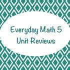 12 SMART Notebook unit reviews for all units from Everyday Math 5th Grade