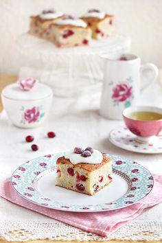 Tea & Cranberry Orange Cake - Muffin Recipe baked in a Cake Pan!